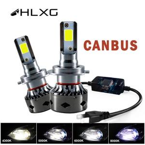 Image 1 - HLXG CANBUS h7 led Mini H4 12V lampada 9005 HB3 9006 HB4 lamp 12000LM Light Car Headlight H11 H1 H8 H9 6000K Bulb