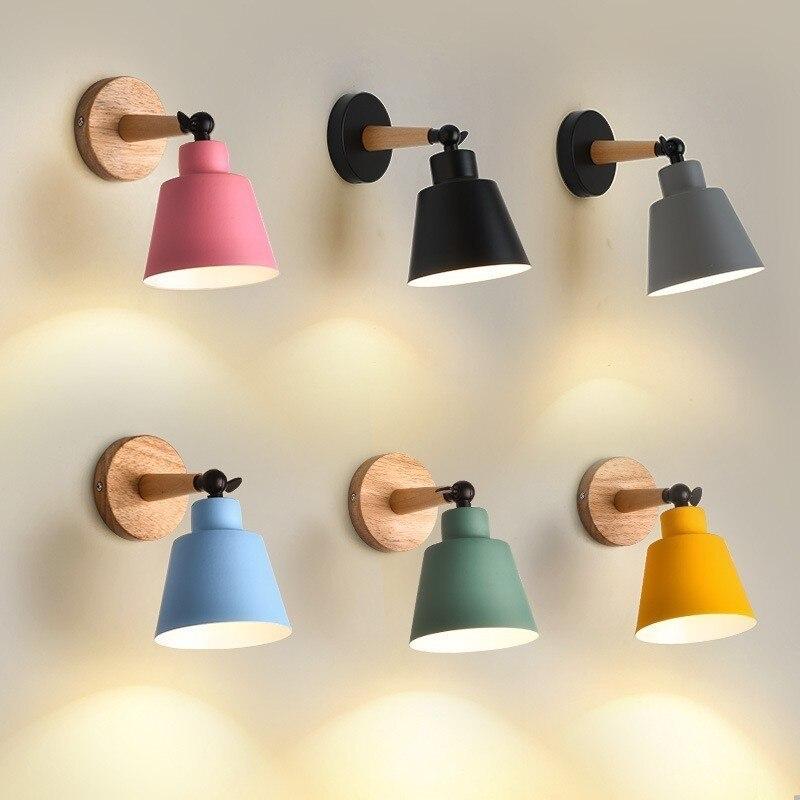 Nordic Modern Simple Bedroom Wall Lamp Indoor Decoration Light Wall Lights For Home E27 110V/220V