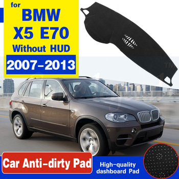 For BMW X5 E70 2007~2013 Anti-Slip Anti-UV Mat Dashboard Cover Pad Sun Shade Dashmat Protect Carpet Accessories 2009 2010 2012 image