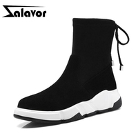ZALAVOR Women Ankle Boots Real Leather Luxury Designer Shoes Women Fall Winter Lace Up Casual Black Flats Footwear Size 34 39