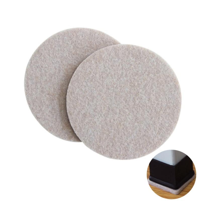 Soft Thickening Furniture Leg Mat Bumper Chair Fittings Self-adhesive Floor Protector Anti-slip Mat Anti Rub Furniture Leg Pads
