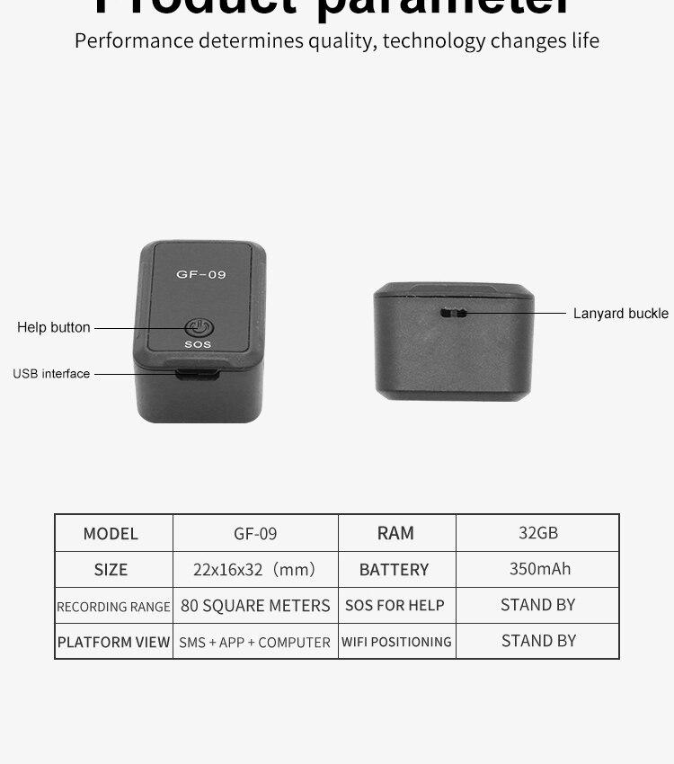 tracker posicionamento preciso remoto gravação de escuta
