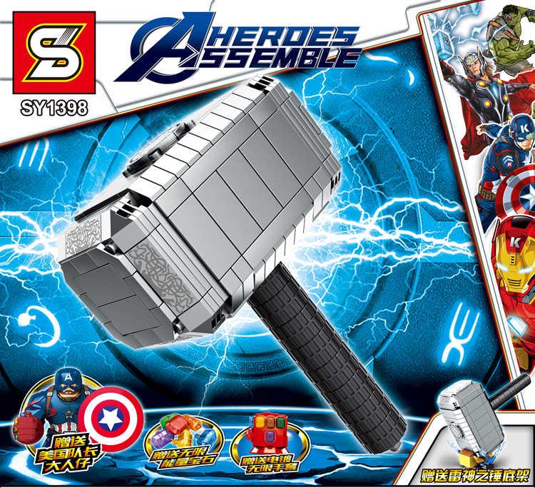 Building Block Super Heroes Mattoni Arma Infinity Gauntlet Figure Per I Giocattoli Per Bambini Compatibile legoed