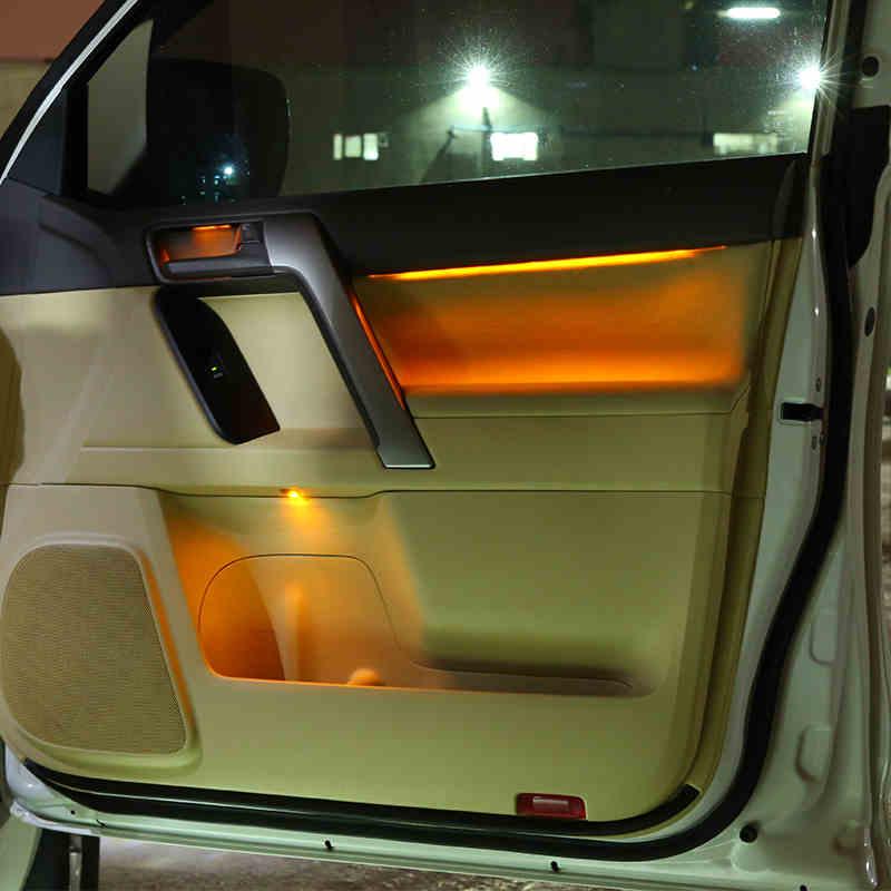 Lsrtw2017 интерьер автомобиля атмосфера светильник для toyota land cruiser prado 2010 2011 2012 2013 2014 2015 2016 2017