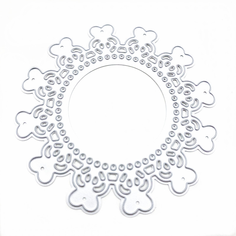 Купить круглая кружевная высечка «сделай сам» для скрапбукинга фотоальбома