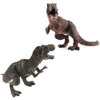 68pcs set mini animal world zoo simulated solid dinosaur model set toys boys action figures cartoon collection children toy gift Big Size Wild Life Tyrannosaurus Rex Dinosaur Toy Plastic Play Toys Dinosaur Model Action Figures Kids Boy Gift