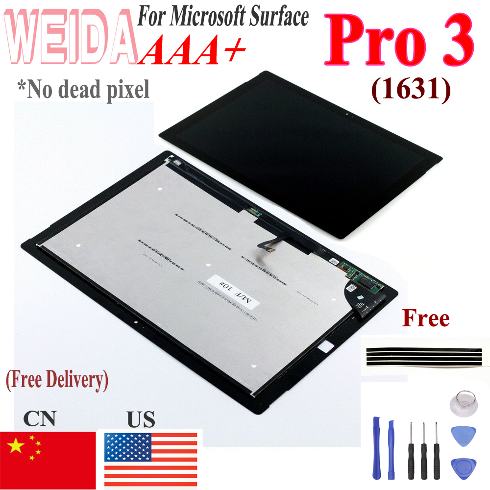 Lcd For Microsoft <font><b>Surface</b></font> <font><b>Pro</b></font> <font><b>3</b></font> <font><b>1631</b></font> LCD Screen Touch Digitizer Display Panel TOM12H20 v1.1 LTL120QL01 003 For Pro3 image