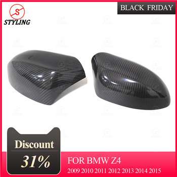 E89 Mirror Cover For BMW Z4 sDrive20i 35i Carbon Fiber side Rearview Mirror Case Replacement 2009 2010 2011 2012 2013 2014 2015 image