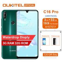 Смартфон OUKITEL C16 Pro, 3 ГБ, 32 ГБ, четырехъядерный процессор MTK6761P, 5,71 дюймов, экран в виде капли воды, 19:9, распознавание лица, отпечаток пальца, LTE, 2600 мАч, мобильный телефон