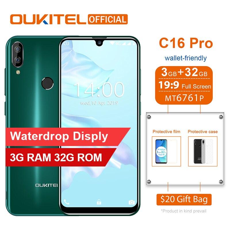 OUKITEL C16 Pro Smartphone 3GB 32GB MTK6761P Quad Core 5.71
