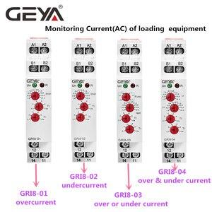 Image 5 - משלוח חינם GEYA GRI8 01 הנוכחי ניטור ממסר הנוכחי טווח 0.5A 16A AC24 240V או DC24V הנוכחי חישה ממסר
