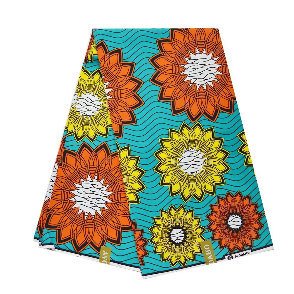 Beautiful Tulle African Wax Cotton Fabric Sewing Materials For Dress, Ghana Nigerian Ankara Real Veritable Wax Pange Fabrics