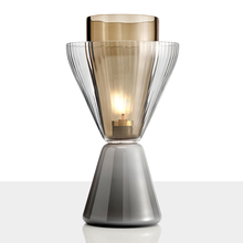 Post-modern Glass LED Table Light Marble Base Shade Lamps Living Room Nightstand Lamp Study Reading Led Desk