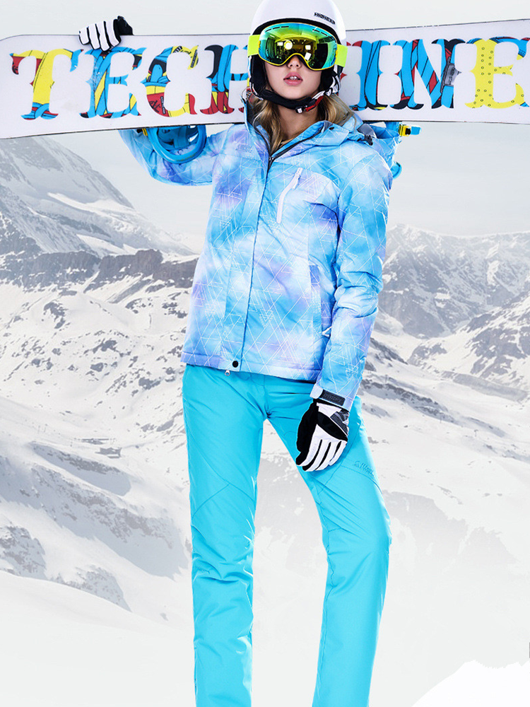 Winter Suit Women Ski Suit Women Winter Jacket Snowboard Jacket Female Snow Pants Skiing Sport Suit Waterproof Snowboarding Ski