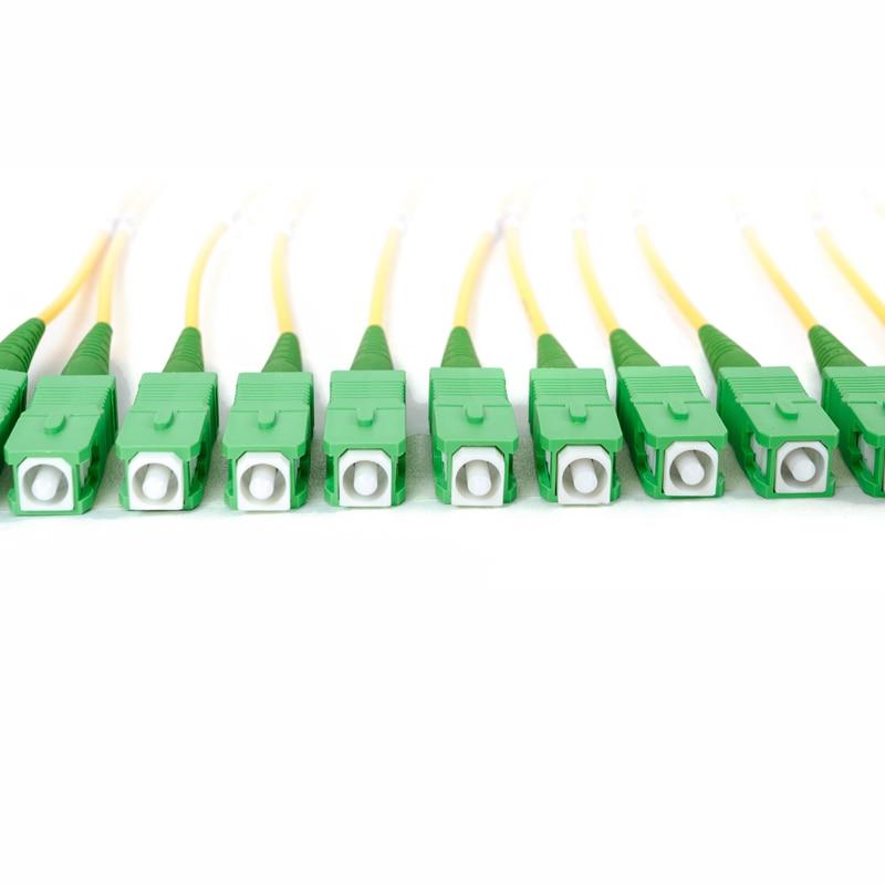 12 волоконный распределительный кабель-волоконно-оптический пучок Косички SC/APC-SM(9/125)-G652D, G657A1, G657A2 пучок волоконных косичек