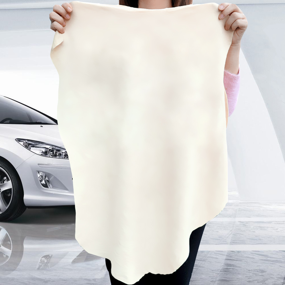 Natural Chamois Leather Wash Suede Genuine Leather Car Wash Towel Absorbent Quick Dry Towel 5 Size Car Cleaning Cloth
