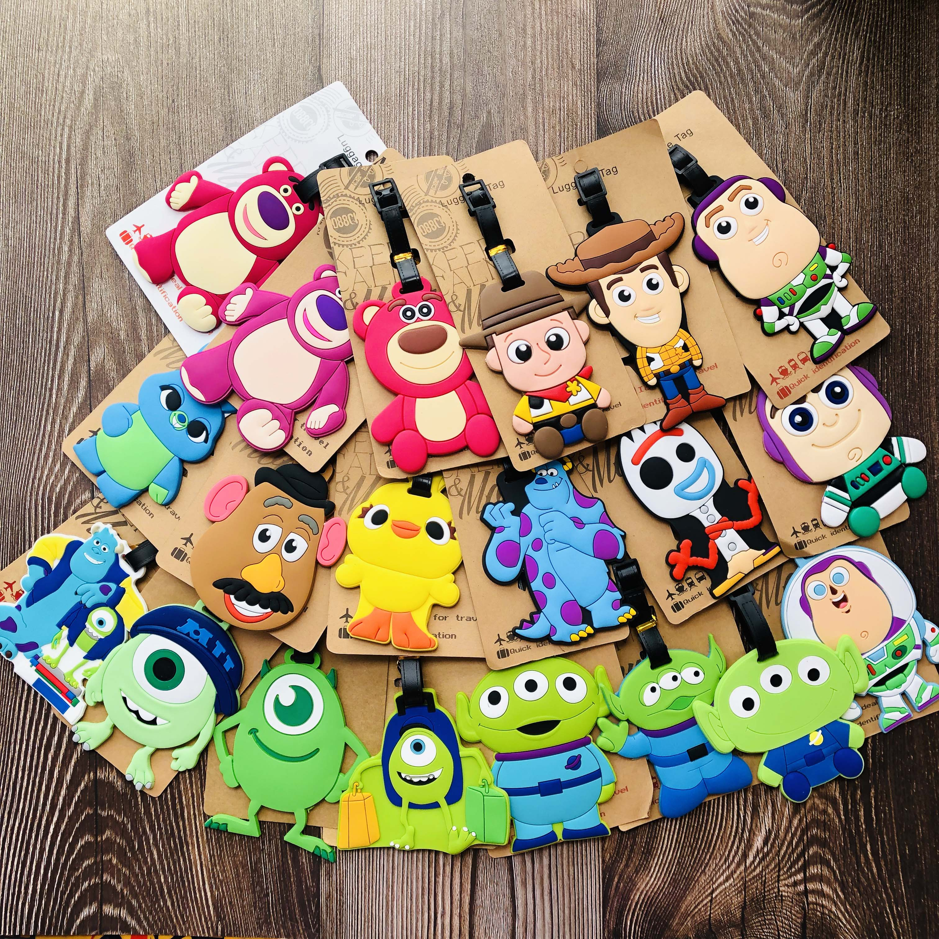 IVYYE Woody Aliens Buzz Anime Travel Accessories Luggage Tag Suitcase ID Portable Tags Holder Baggage Labels Gifts New