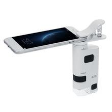 Цифровой Микроскоп USB Microscopio 80-120X светодиодный сотовый телефон клип-тип сотовый телефон микроскоп Лупа с светодиодный увеличитель лампы