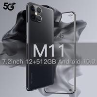Xiaomi M11 Smart Phone da 7.2 pollici 12G 512G 5000mAh Android cellulare Celular versione globale Smartphone sbloccato 5G cellulari