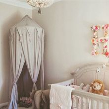 Bed Curtain Baby Bed-Net Crib Room-Tent Mosquito-Net Tassel Dome Portable Children's