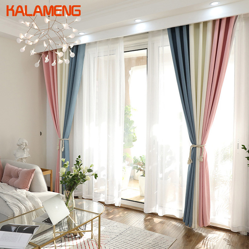 Modern Pink And White Curtains Living Room Blackout Chiffon Curtains Dining Room Curtain For Balcony Girl Room Axy8174 Buy At The Price Of 39 11 In Aliexpress Com Imall Com