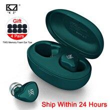 Беспроводные наушники KZ S1D/S1 TWS с сенсорным управлением, Bluetooth 5,0, динамические/гибридные наушники вкладыши, гарнитура с шумоподавлением, спортивные наушники