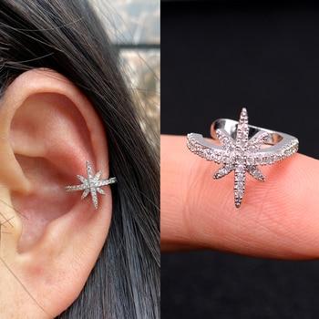 1Pc Helix Cartilage Conch Fake Without Piercing Cuff Earring Earcuff Wrap Rock Earring Cuff No Piercing Women Clip Adjustable 2