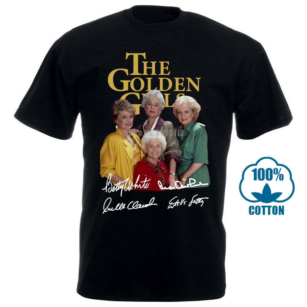 The Golden Girls Signature Men T-Shirt Black Cotton S-6XL
