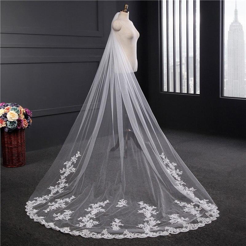 Hl05 Veil Switzerland Network Bride Marriage 1.8 M Wide Tailing Floral Arrangements Long Lace Veil