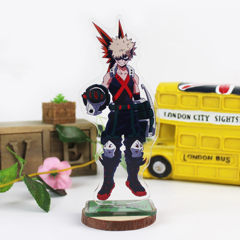 Anime My Hero Academia Big Stand Plate Bakugou Katsuki Cartoon Figure Izuku Acrylic Stand Holder Model