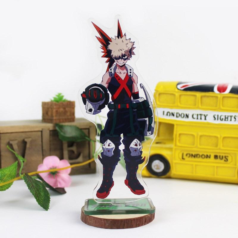 Anime My Hero Academia Big Stand Plate Bakugou Katsuki Cartoon Figure Izuku Acrylic Stand Holder Model