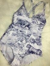 Цельный купальник с принтом тигра, бикини для женщин, Модный Купальник с надписью, бандаж, сексуальный купальник, Maillot De Bain