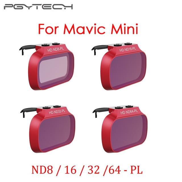 PGYTECH Mavic Mini المهنية عدسة مجموعة فلاتر ND8/16/32/64 PL ND8/16/32/64 ل DJI Mavic Mini ملحقات طائرة بدون طيار