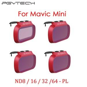 Image 1 - Набор профессиональных мини фильтров для объектива PGYTECH Mavic ND8/16/32/64 PL ND8/16/32/64, аксессуары для мини дрона DJI Mavic
