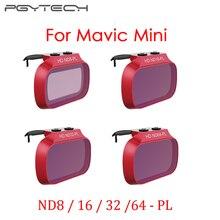 Pgytech mavic mini conjunto de filtro de lente profissional nd8/16/32/64 pl nd8/16/32/64 para dji mavic mini zangão acessórios