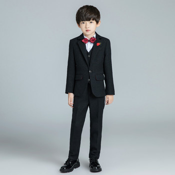 YuanLu New Boys Suits For Wedding Party Piano Black Blazer Coat Toddler Costume Silm Fit Single-Breasted Autumn Winter