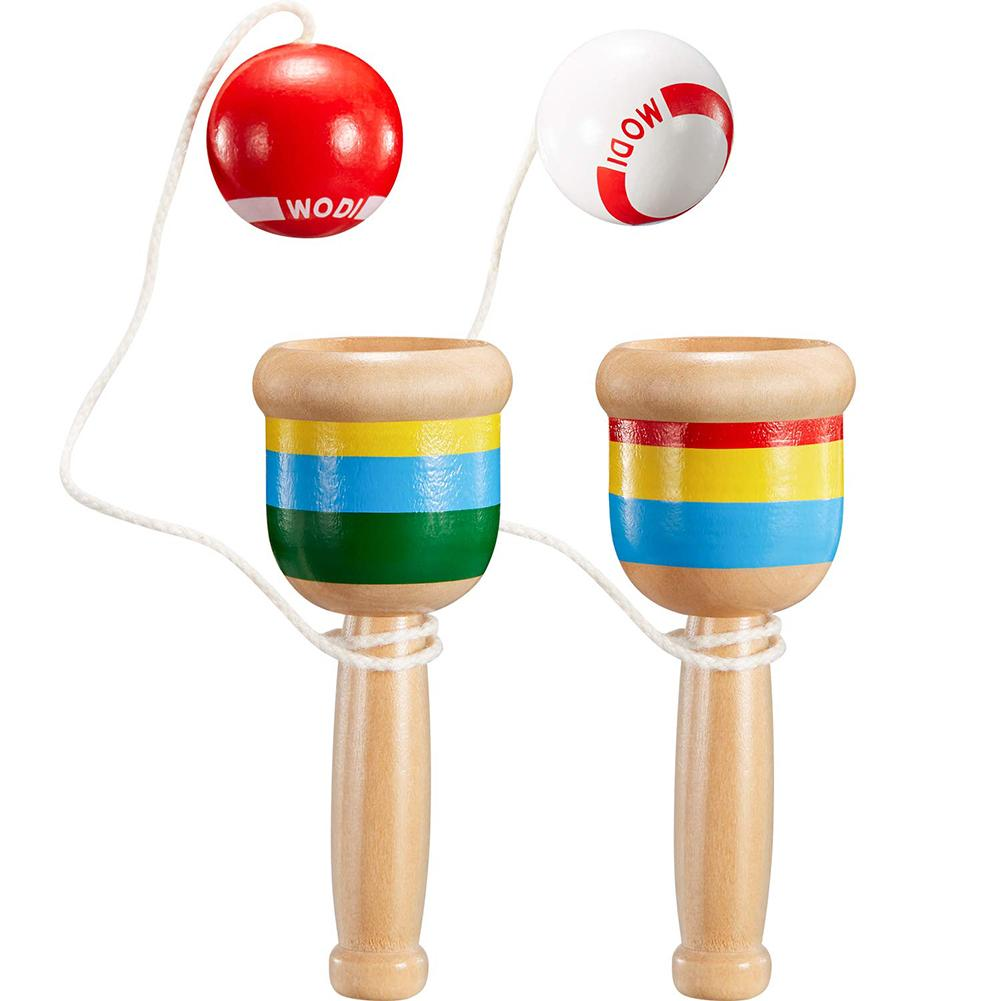 Montessori Toy Wooden Skill Sword Cup Ball Games Educational Outdoor Funny Toys For Children Gifts Traditional Games Toys