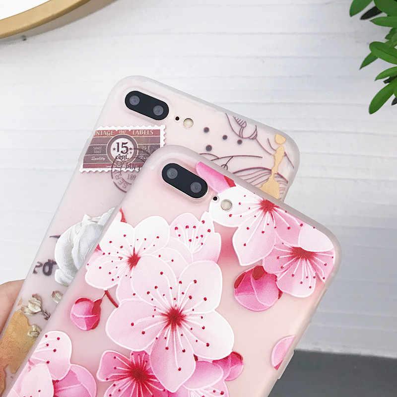 P スマート 2019 ケースシリコンソフト TPU 裏表紙 Huawei 社 P20 P30 Lite メイト 20 プロケース 3D リリーフ花バンパー