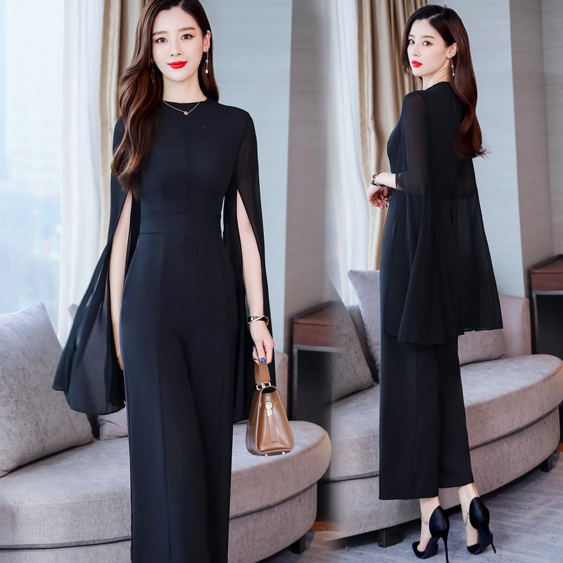 Elegant Debutante Royal Sister Fashion Western Style Onesie 2020 Spring New Style Wide-Leg Slim Fit Slimming Women' Jump Suit