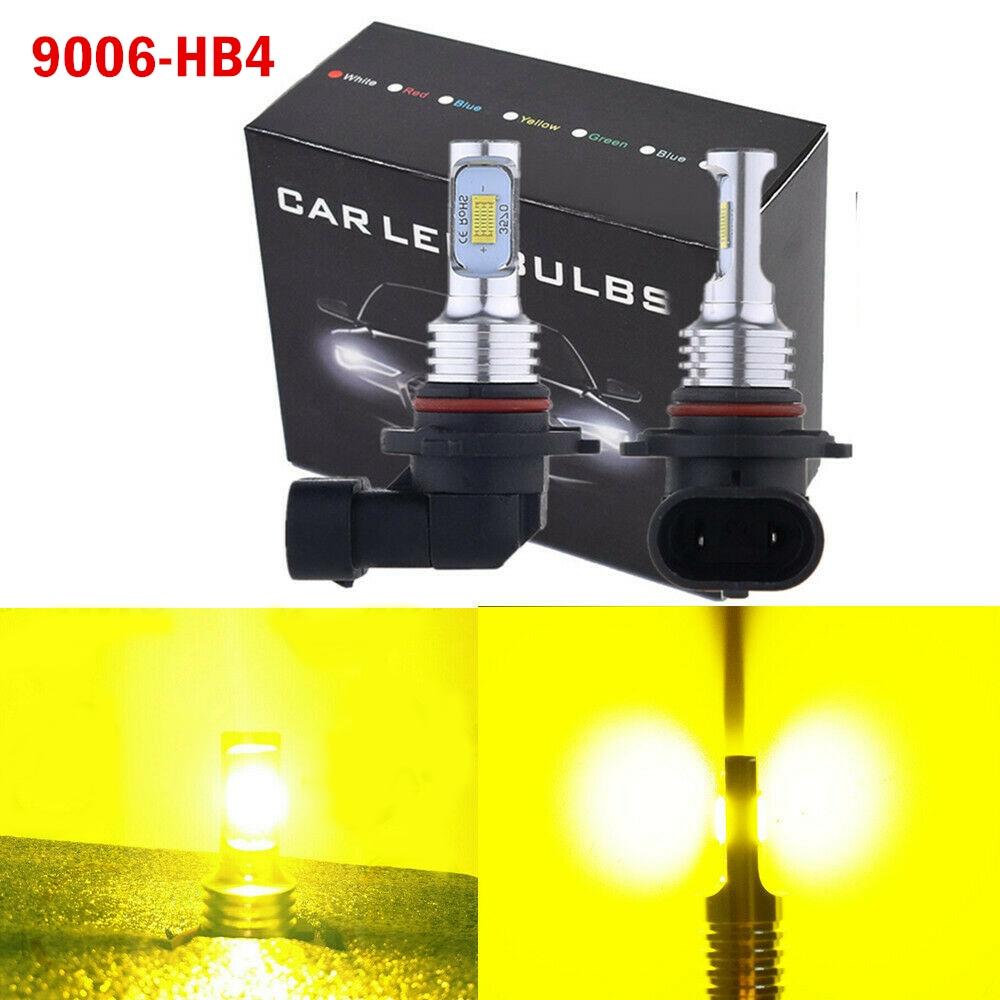 Fog Lamp Fog Lights Car LED FogLights Bulbs Conversion Kit High-bright Decoding H8/H9/H11 9006/HB4 White Yellow Blue