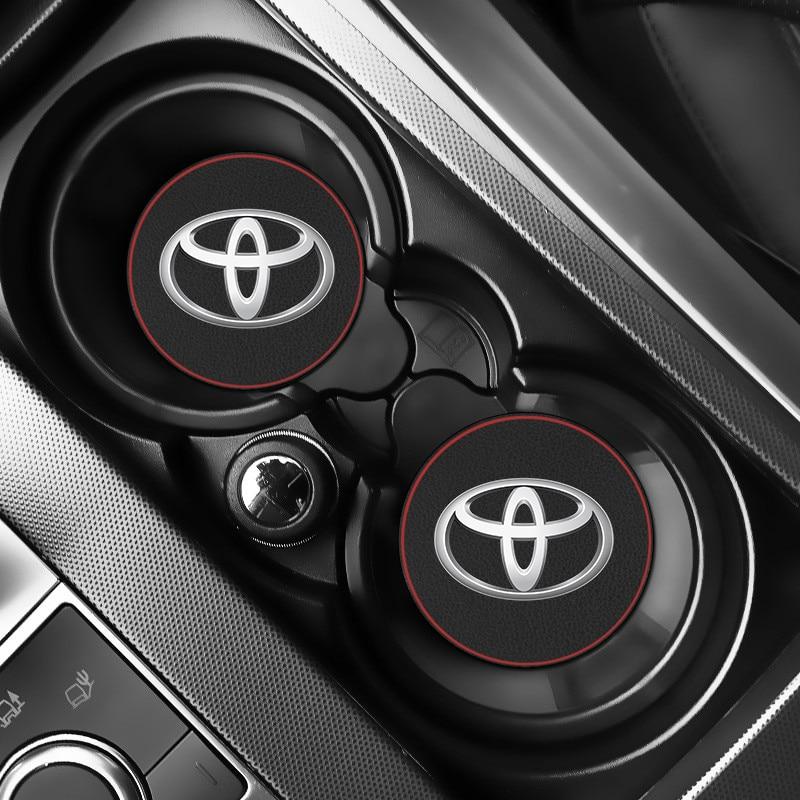 1PCS Car Vehicle Water Cup Bottle Holder Anti-slip Pad Mat for Toyota c-hr Prado rav4 Yaris hilux Antislip Pads Auto Accessories