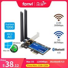 FV HB1200 Desktop Macos Hackintosh Dual Band 1200Mbps Bluetooth 4.0 Pci E Draadloze Wi fi Adapter 802.11ac BCM94360CS2 Wifi Kaart
