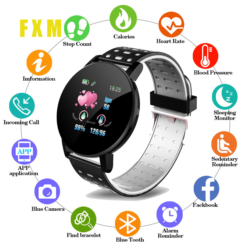 Couple Clock Bluetooth Smart Watch Men Blood Pressure Smartwatch Women Watch Sport Tracker Smartband WhatsApp For Android Ios