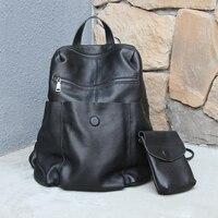 Genuine Leather Backpack Men or Woman High Quality Soft Leather Travel Backpacks Vintage Big Casual School Shoulder Bag Rucksack