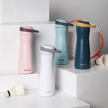 Double Wall Vacuum Insulated Stainless Steel Leak Proof Sports Water Bottle, Small waist design with BPA Free Slip