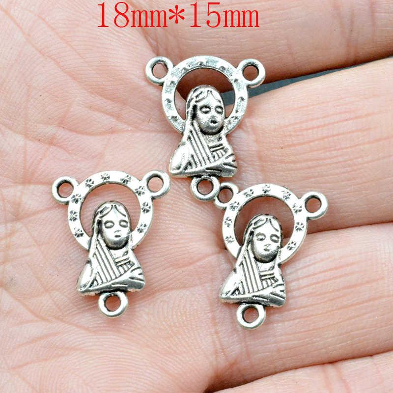 10 Uds 17*11mm encantos de hadas Ángel Luna estrella tibetano Retro DIY pulsera de la joyería de collar de color de plata antiguo de bronce