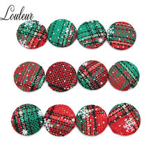 20Pcs/lot 15/17/25/30mm Round Cloth Fabric Covered Sewing Buttons Flatback Cabochon Scrapbooking Crafts Decor DIY Jewelry Making(China)