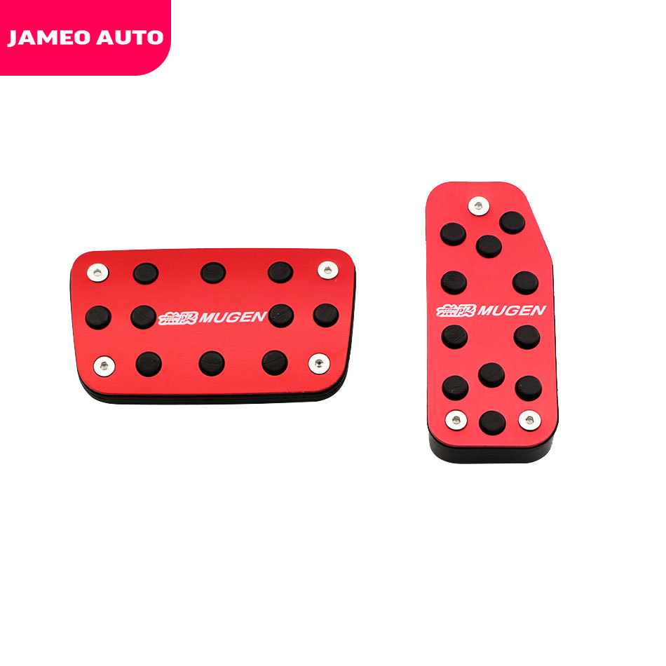 Auto Gaspedaal Pad Cover Voetpedaal Cover Sport Model Voor Honda Fit Jazz GK5 Vezel Hrv Xrv City Crider 2014-2019 At