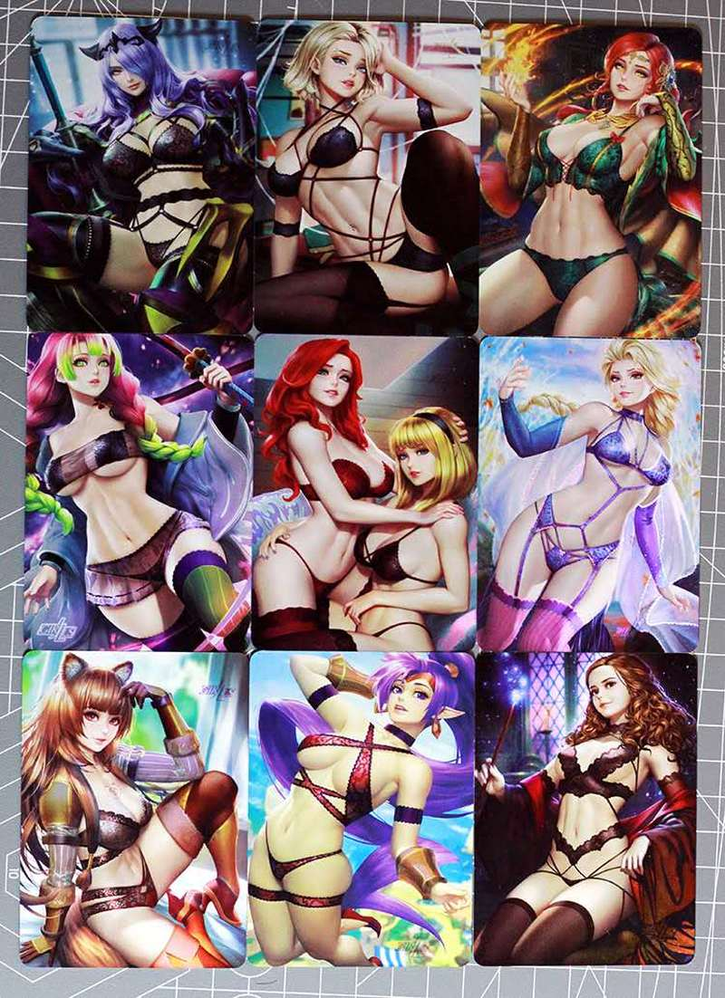 9pca/set Sexy Beauty Toys Hobbies Hobby Collectibles Game Collection Cards Sexy Girl Free Shipping