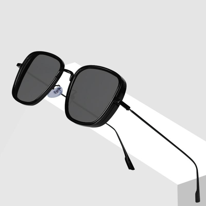 2020 carré lunettes de soleil hommes de luxe marque métal rétro Steampunk dégradé lunettes de soleil pour femmes nuances UV400